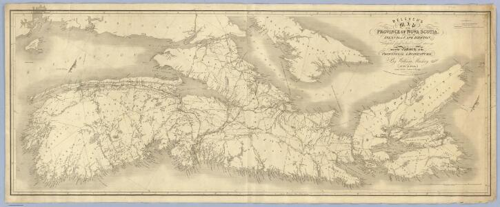 Belcher's map of the Province of Nova Scotia, Including the Island of Cape Breton.