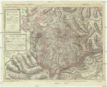 Der Canton Basel mit den angränzenden Bezirken