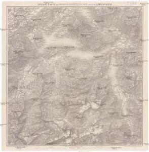 Special-Karte vom Vierwaldstätter See und seinen Umgebungen