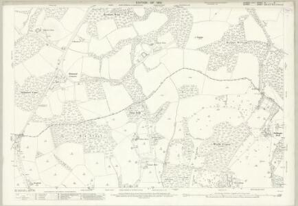 Sussex XI.3 (includes: Chiddingfold; North Chapel; Plaistow) - 25 Inch Map
