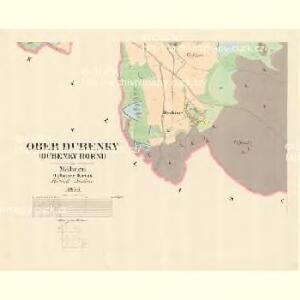 Ober Dubenky (Dubenky Horni) - m0776-1-005 - Kaiserpflichtexemplar der Landkarten des stabilen Katasters