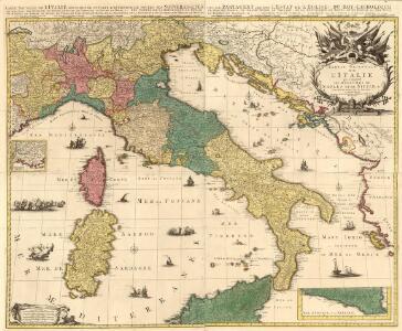 Partie Orientale de l'Italie qui comprend les Royaumes de Naples et de Sicile &c.