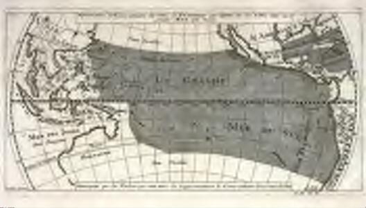 Répresentation du cours ordinaire des vents de traverse qui regnent sur les côtes dans la grande mer du Sud