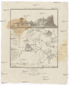 Carte, plan et vue des bouches de Cataro et de la forteresse de Castel-Novo, occupés par le Russes en 1806.