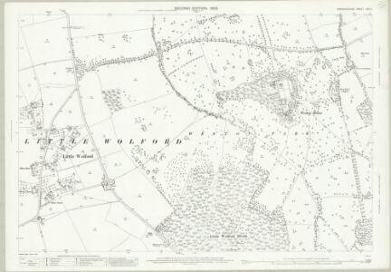 Warwickshire LVII.5 (includes: Cherington; Little Wolford; Long Compton) - 25 Inch Map