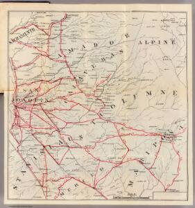 Sacramento, Amador, Calaveras, San Joaquin, Tuolumne, Stanislaus, Merced, and Mariposa Counties.