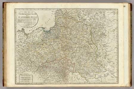 A new map of the Kingdom of Poland with its dismembered provinces.