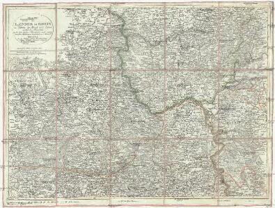 Charte der Laender am Rhein von Colbenz der Mosel und Lahne südlich bis Mannheim