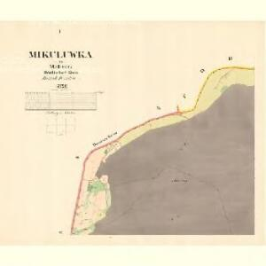 Mikuluwka - m1789-1-001 - Kaiserpflichtexemplar der Landkarten des stabilen Katasters