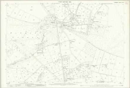 Cornwall XXIX.6 (includes: Callington; South Hill; Stoke Climsland) - 25 Inch Map