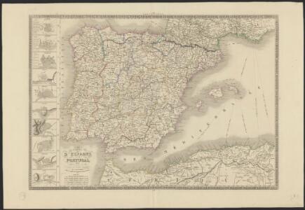 Carte d'Espagne et de Portugal divisée suivant la décision des cortès et soumise aux dernières observations