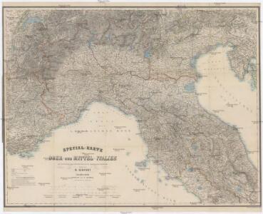 Special-Karte von Ober- und Mittel-Italien