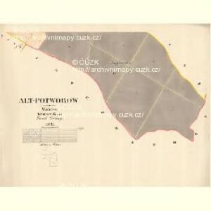 Alt Potworow - m2872-1-004 - Kaiserpflichtexemplar der Landkarten des stabilen Katasters