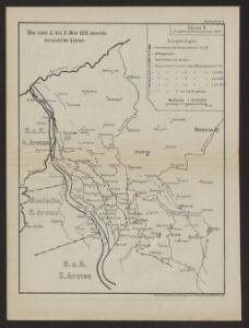 Die vom 2. bis 7. Mai 1915 abends erreichten Linien