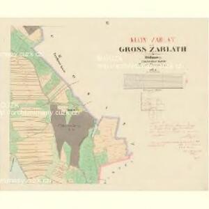 Gross Zablath - c9005-1-006 - Kaiserpflichtexemplar der Landkarten des stabilen Katasters