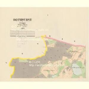 Rothwurst - c6459-1-001 - Kaiserpflichtexemplar der Landkarten des stabilen Katasters