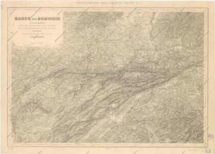 Karte der Schweiz... Blatt I.