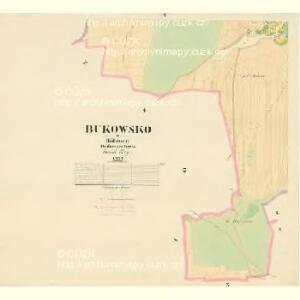 Bukowsko - c1264-1-005 - Kaiserpflichtexemplar der Landkarten des stabilen Katasters
