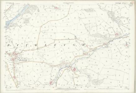 Devon LVI.3 (includes: Bickleigh; Silverton; Tiverton) - 25 Inch Map