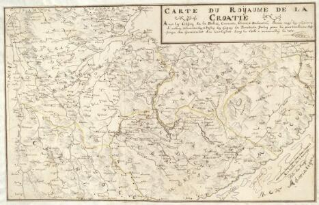 Carte Du Royaume De La Croatie