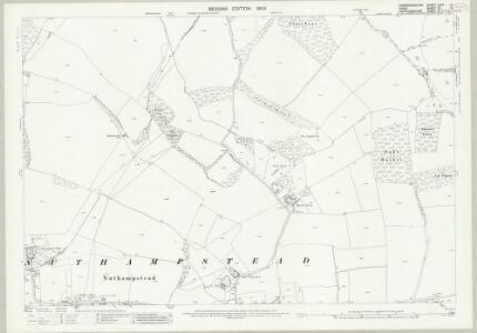 Cambridgeshire LXIIA.12 (includes: Barley; Chrishall; Little Chishill; Nuthampstead) - 25 Inch Map