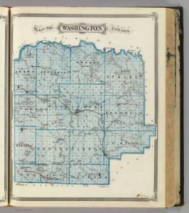 Map of Washington County.