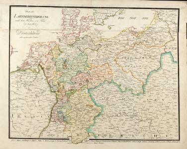 Neueste Laendereintheilung nach dem Frieden von Tilsit (9t[er] July 1807) oder Deutschland nebst angränzenden Ländern