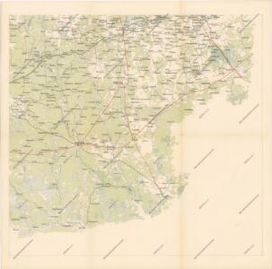 Strategische Übersichts-Karte des polnisch-litaurischen Armee-Bewegungraumes