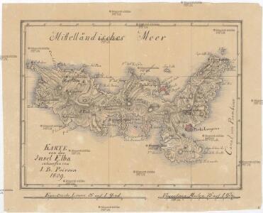 Karte von der Insel Elba