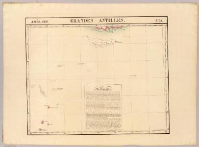Grandes Antilles. Amer. Sep. 73.