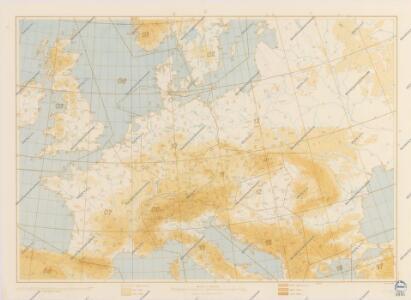 Bez titulu: Povětrnostní mapa Střední Evropy