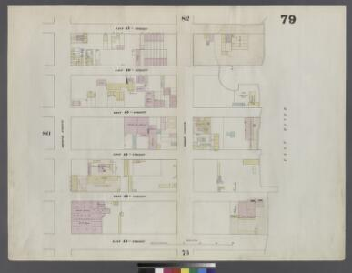Plate 79: Map bounded by East 47th Street, East River, East 42nd Street, Second Avenue
