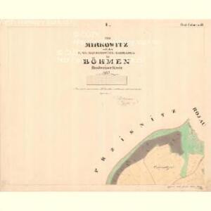 Zahradka - c9069-1-001 - Kaiserpflichtexemplar der Landkarten des stabilen Katasters