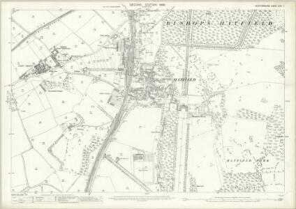 Hertfordshire XXXV.7 (includes: Bishops Hatfield) - 25 Inch Map