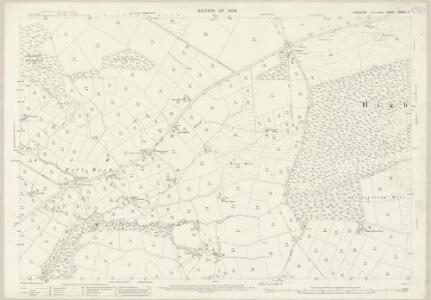 Yorkshire CXXXVI.2 (includes: Eavestone; Hartwith Cum Winsley; High And Low Bishopside; Sawley; Warsill) - 25 Inch Map