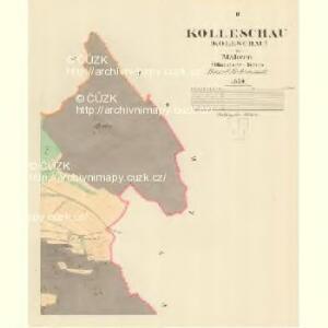 Kolleschau (Koleschau) - m1248-1-002 - Kaiserpflichtexemplar der Landkarten des stabilen Katasters