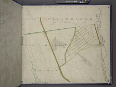 Bronx, Topographical Map Sheet 2; [Map bounded by Midland Ave., Mc. Lean Ave., New York and Harlem Railroad, Mosholu Ave.; Including Croton Aqueduct, New York and Boston Railroad, Tibbet's Brook]