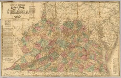 Lloyd's official map of the State of Virginia.