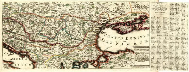 Regni Hungariae et Provinciarum adjacentium Tartariae minoris, ac Grimeae delineatio Geographica