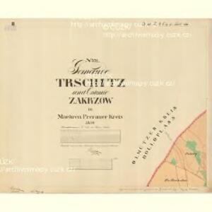 Trschitz - m3142-1-002 - Kaiserpflichtexemplar der Landkarten des stabilen Katasters