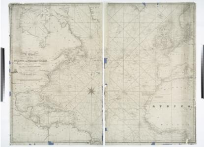 A chart of the Atlantic or Western Ocean / drawn from the latest surveys & astronomical observations by J. & A. Walker, London & Liverpool 1830.