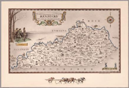 An historical and geographical map of the state of Kentucky