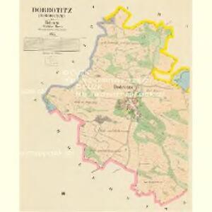 Dobrotitz (Dobrotice) - c1191-1-001 - Kaiserpflichtexemplar der Landkarten des stabilen Katasters