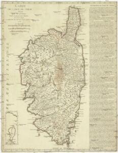 Carte de l isle de Corse