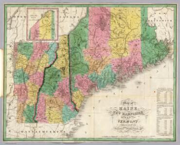 Maine, New Hampshire, Vermont.