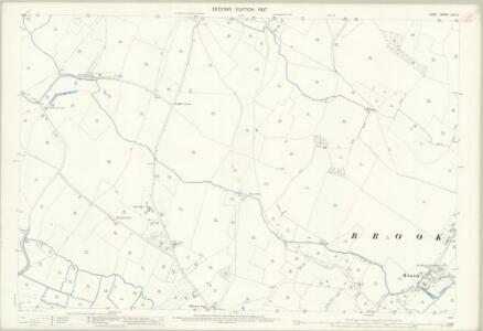 Kent LXV.3 (includes: Brook; Wye) - 25 Inch Map