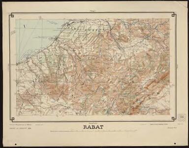 Carte générale du Maroc à l'échelle de 1 : 500 000 e. Rabat