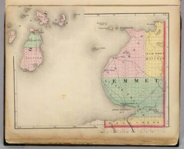 (Map of Emmet County, Michigan)