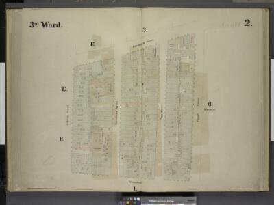 [3rd Ward. Plate 2: Map bounded by Greenwich Street,  Fulton Street, Broadway, Liberty Street; Including Church St, Courtland Street,  Dey Street]
