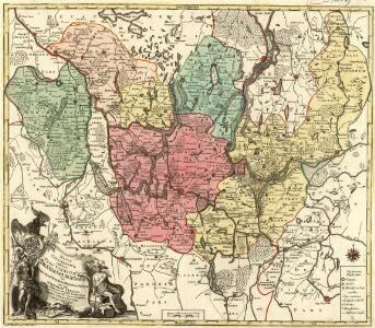 Mappa Geographica exhibens Electoratum Brendenburgensem